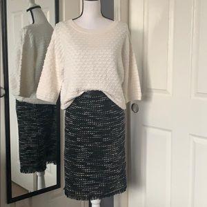 Kenneth Cole tweed skirt